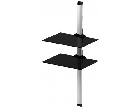 B GRADE/Box slightly damaged Sonorous 2 Shelf Support System Black and Silver