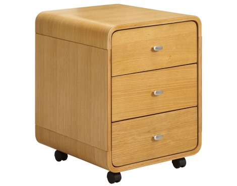 Jual Curve - Oak Drawer Unit with Castors