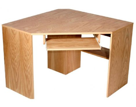 Alphason Oakwood Oak Corner Desk