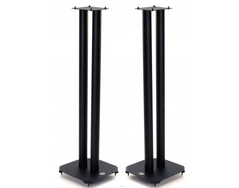B-Tech 80cm Pair of Black Speaker Stands with Metal Base