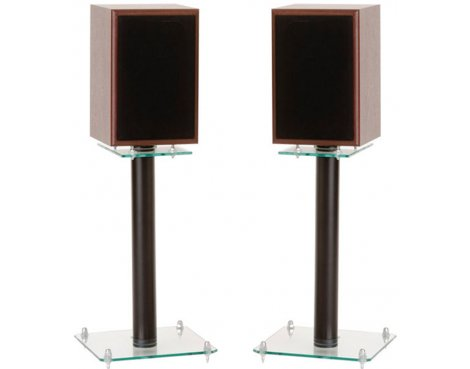 Pair of 400mm Speaker Stands with Clear Base