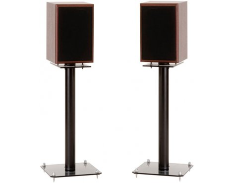 Pair of 600mm Speaker Stands with Smoked Base