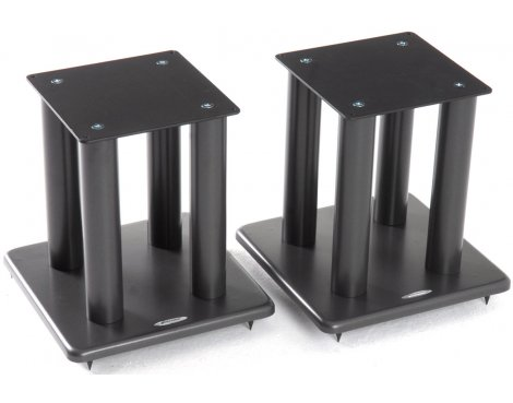 Atacama Pair of Speaker Stands in Black - Height 300mm