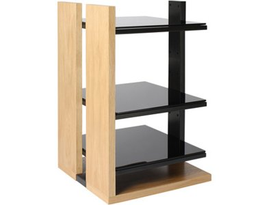 Soundstyle 3 Shelf Light Oak Hi-Fi Stand