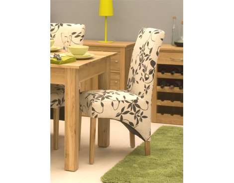 Mobel Oak Upholstered Dining Chair - Pack Of Two