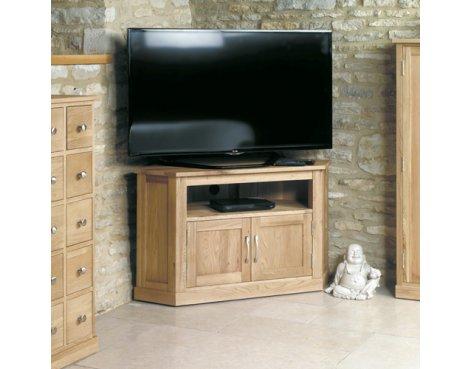 Mobel Oak Corner Television Cabinet