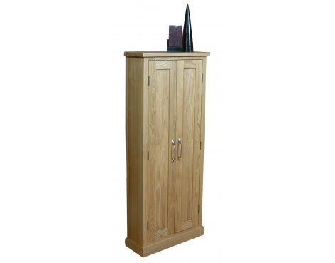 Mobel Oak CD/DVD Storage Cupboard