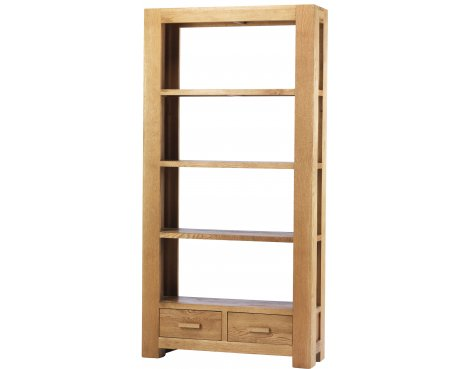Chunky Oak Large Bookcase