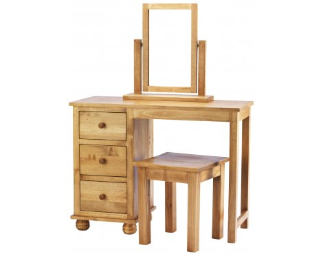 Ultimum Avon Solid Pine Dressing Table With Stool And Mirror