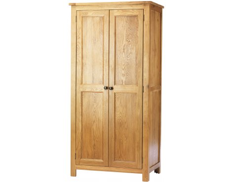 Chester Solid Oak and Pine 2 Door Wardrobe