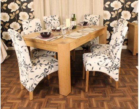 Aston Oak Dining Table 4-6 Seater - Table Only