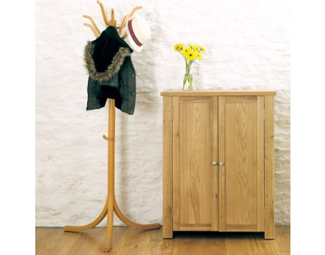 Aston Oak Shoe Cupboard