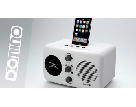 Domino D3 ipod Docking Station - White