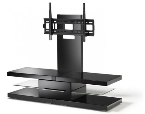 Echo Black Cantilever TV Unit for TVs up 60""