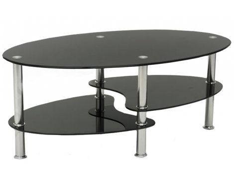 Cara Black Glass Coffee Table