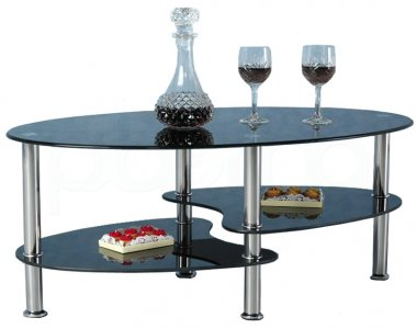 Cara Black Glass Coffee Table With Chrome Legs Ebay