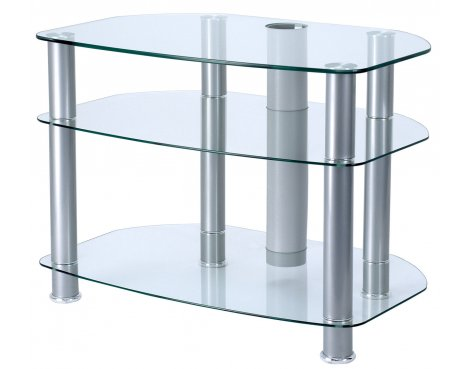 """Alphason Clear Glass TV Stand for up to 32\"""" TVs"""