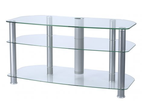 """Alphason Clear Glass TV Stand for up to 42\"""" TVs"""