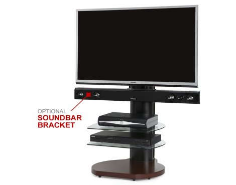 Origin II S3 Walnut & Black Cantilever TV Stand