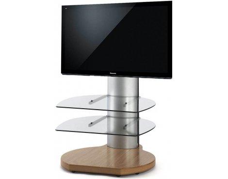 Origin II S3 Oak & Silver Cantilever TV Stand