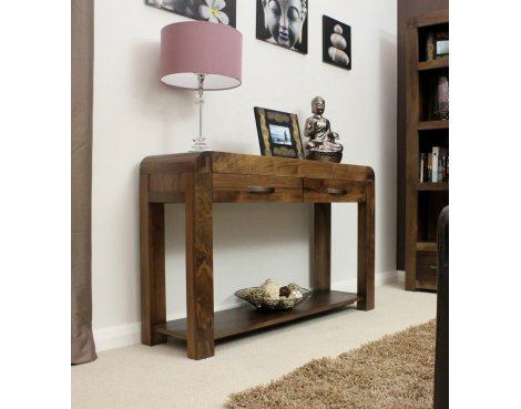 Shiro Walnut Console Table