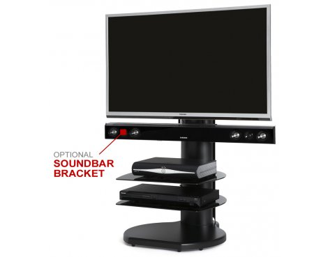 Origin II S4 Flat Panel Cantilever TV Stand In Black