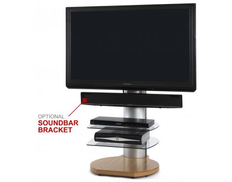 Cantilever TV Stand - Origin II S4 Flat Panel TV Stand in Oak