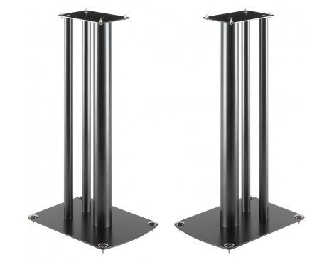 Pair of Black World Mounts Speaker Stands 586mm high