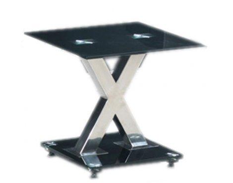 B GRADE/Box slightly damaged Paxel Black Glass Lamp Table