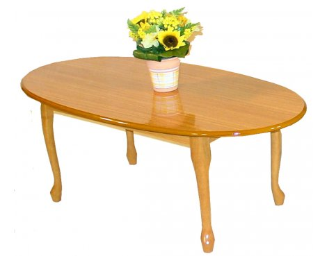 Queen Anne Golden Oak Coffee Table