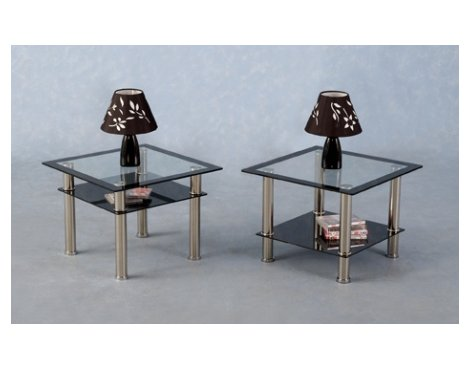 Harlequin Lamp Table in Clear Glass