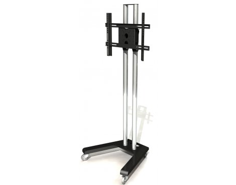 "Mountech 1.6m Trolley Stand with Castors for 32"" - 55\"" TVs"