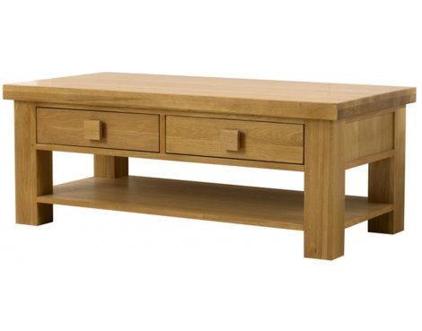 Barcelona Solid Oak Rectangle Coffee Table