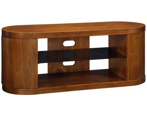 Jual Walnut JF207 TV Cabinet with black glass