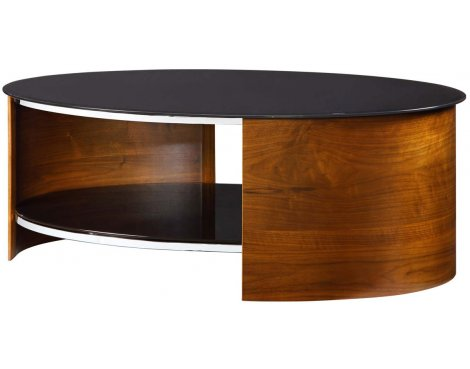 Jual San Marino Black Glass And Walnut Coffee Table