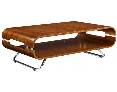 Jual JF302 Chrome And Wood Coffee Table