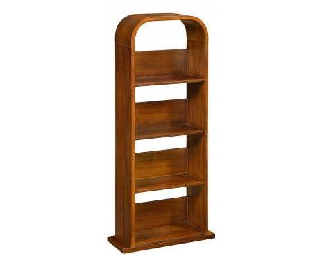 Jual Curve Walnut Veneer DVD/CD Rack