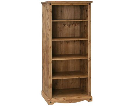 Core Products CR908 Classic Corona 4 Shelf Open Bookcase - Rustic Pine