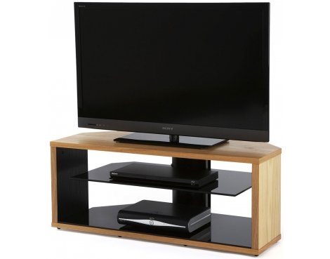 Off The Wall Mono Oak TV Stand for TVs up to 52""
