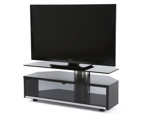 Off The Wall Duo Black TV Stand for TVs up to 52""