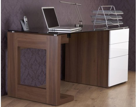 Alphason Walnut Executive Workstation
