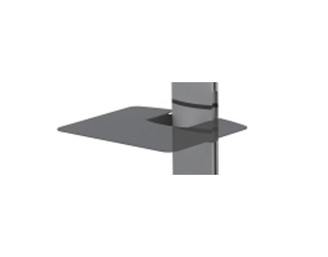 Black Accessory Shelf for World Mounts Floor Stands