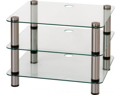 Optimum Prelude Three Shelf Hifi Stand - 6mm Glass