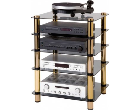 Optimum Prelude Slimline Five Shelf Hifi Stand