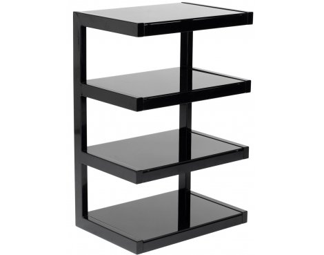 Norstone Esse 4 Shelf Hifi Stand in Black