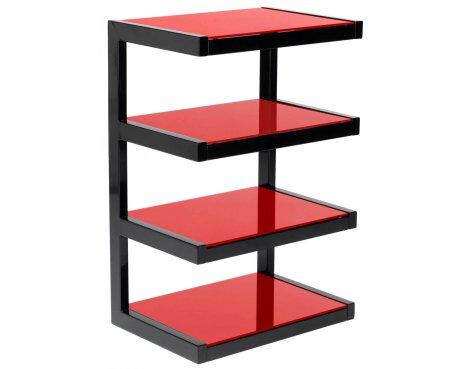 Norstone Esse 4 Shelf Hifi Stand in Red