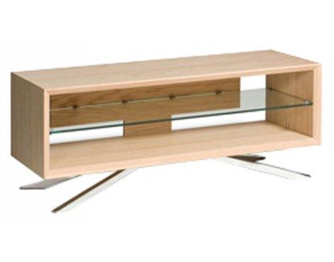 "Display Model - Techlink Arena Light Oak TV Stand For Up To 50\"" TVs"
