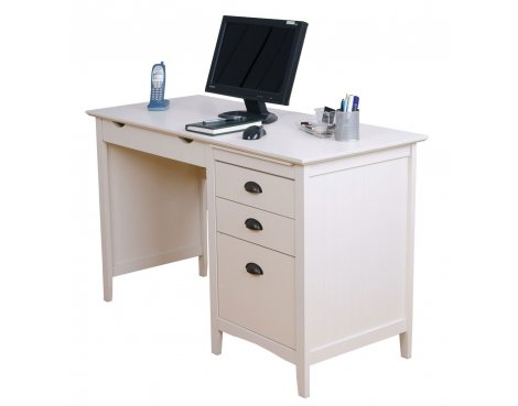 Teknik New England White Desk with Drawers
