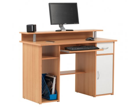 Alphason Albany Beech Effect Computer Workstation