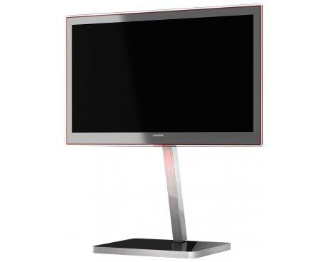 B GRADE/Box slightly damaged Sonorous Brushed Aluminium and Black TV Stand